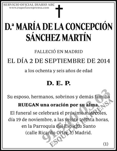 María de la Concepción Sánchez Martín